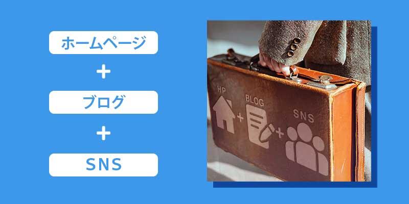 ホームページ+ブログ+SNSの組み合わせを持とう